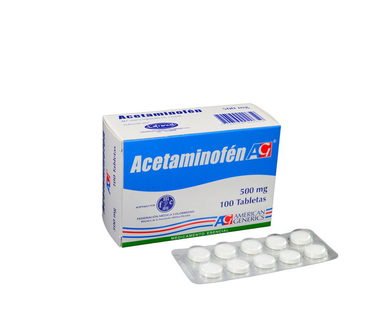 ACETAMINOFEN AMERICAN GENERICS x100