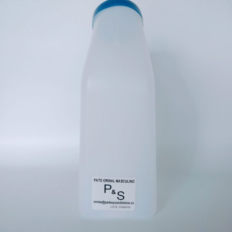 PATO ORINAL HOMBRE PLASTICO 1lt NACIONAL