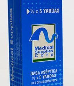 GASA ABSORBENTE CAJA MEDICAL SUPLIES
