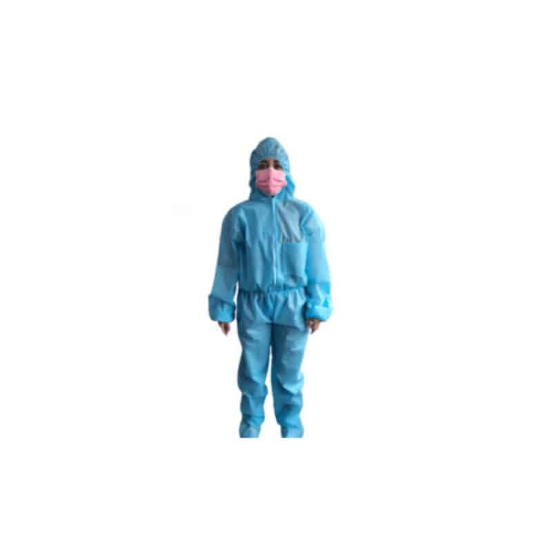 Overol con capucha desechable azul