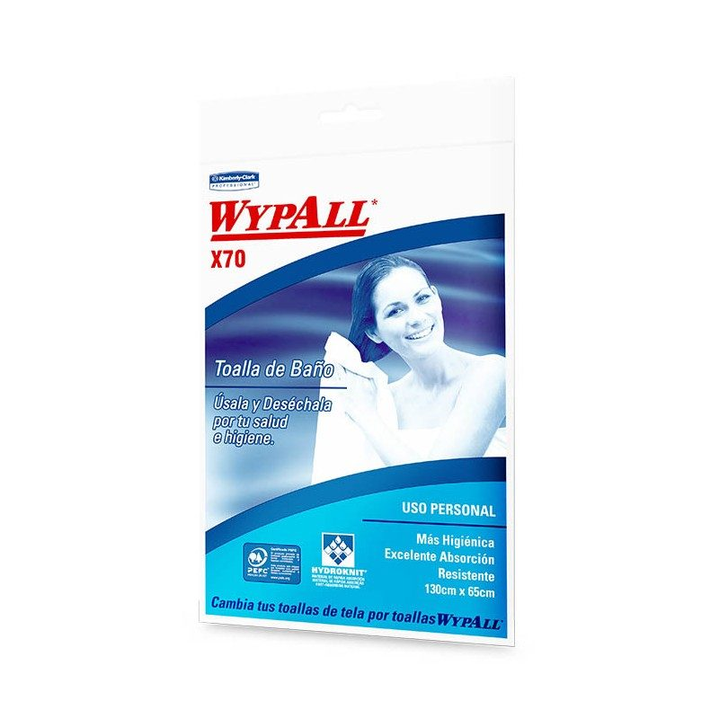 TOALLA BAÑO DESECHABLE 130×65 WYPALL
