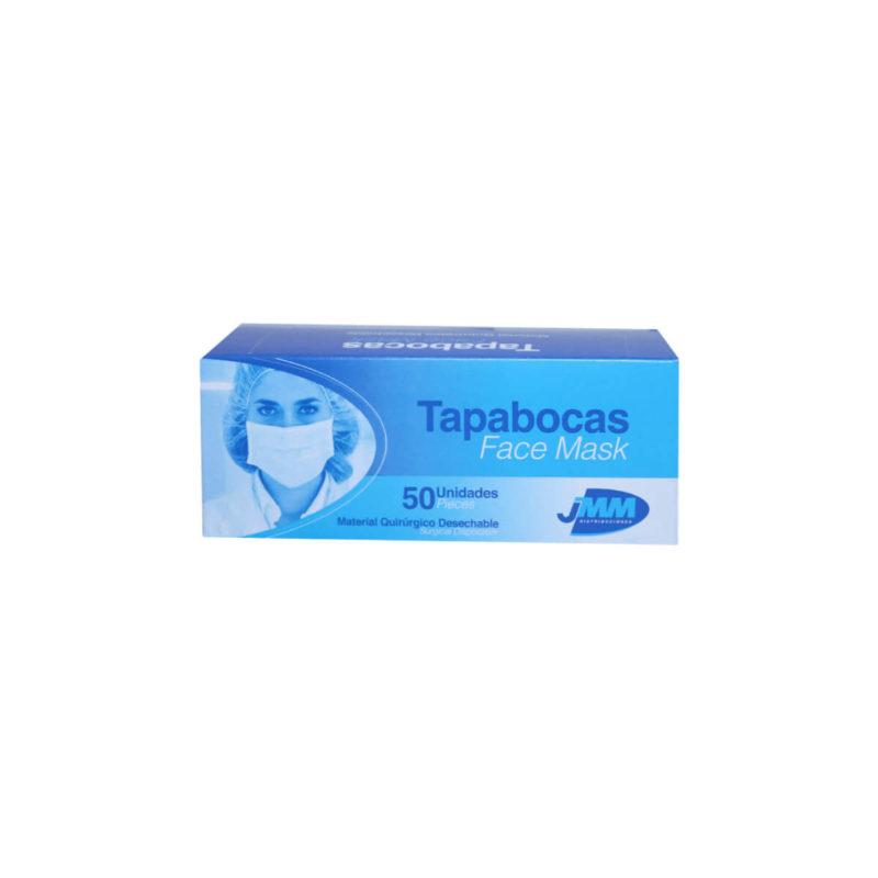 Tapabocas desechable azul