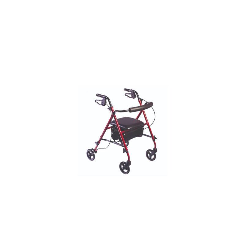 Caminador con rueda y asiento