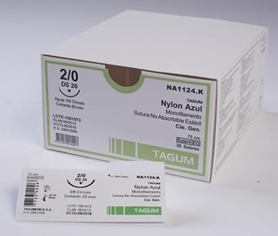 SUTURA NYLON 6/0 45cms DS15 A-C TAGUM