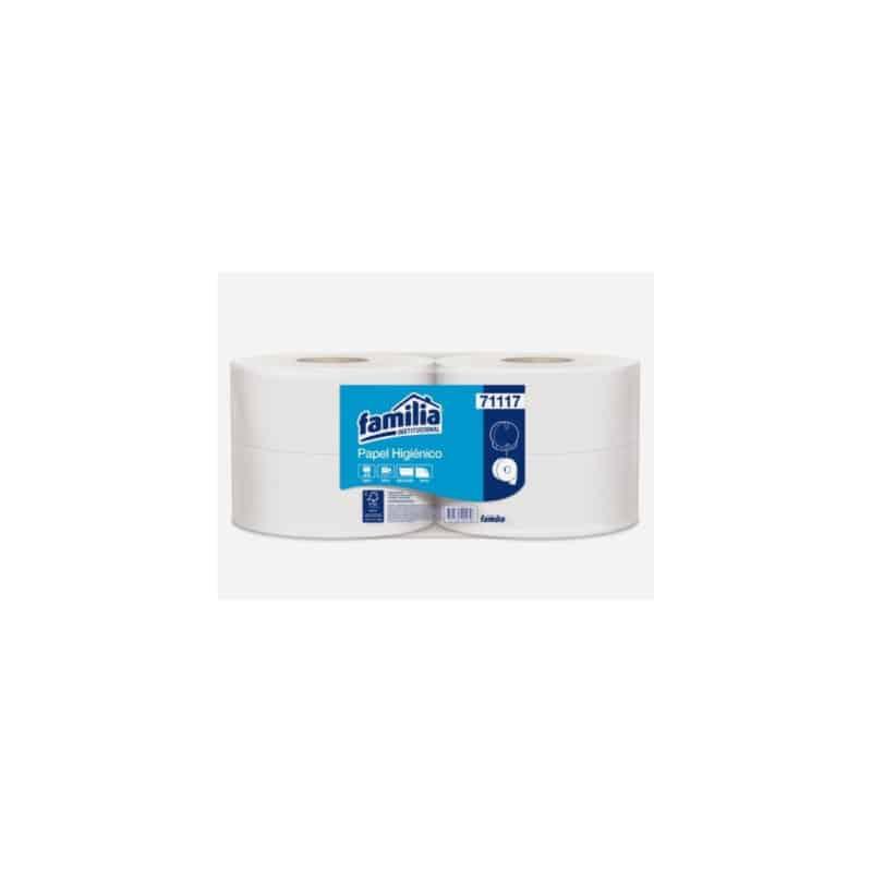 Papel higiénico jumbo blanco
