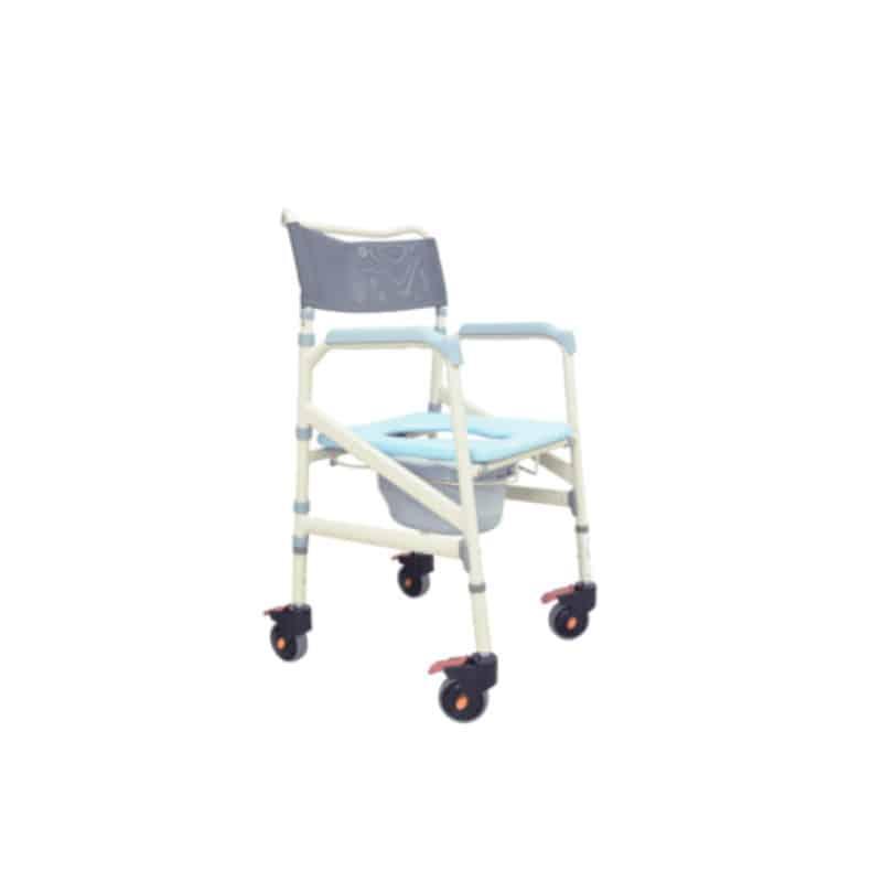 Silla sanitaria con ruedas plegable